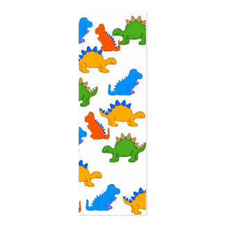 Kid's Bookmark Boys Dinosaur Collage Pack Of Skinny Business Cards