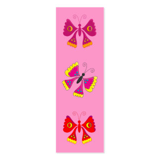 Kid's Bookmark Girls Butterflies Pack Of Skinny Business Cards