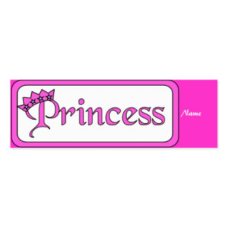 Kid's Bookmark Girls Princess Pack Of Skinny Business Cards