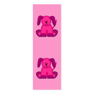 Kid's Bookmark Girls Puppy Dogs Pack Of Skinny Business Cards