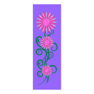 Kid's Bookmark Pink Flower Plant Purple Pack Of Skinny Business Cards
