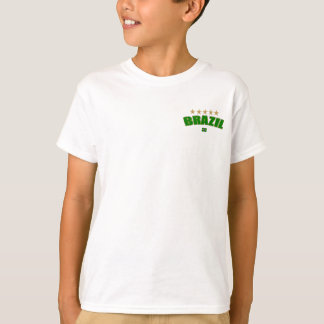 Kids Brazil Logo 5 stars T-shirt