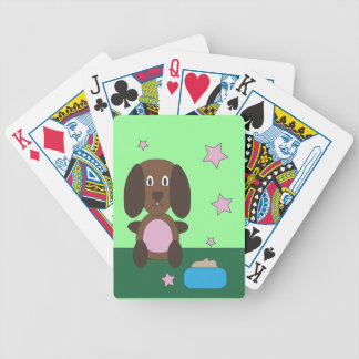 Kid's Brown Dog Playing Cards