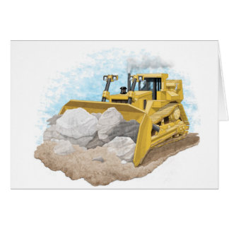 Kids Bulldozer Card