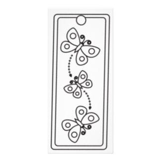 Kids Butterflies Bookmarks Rack Card Template