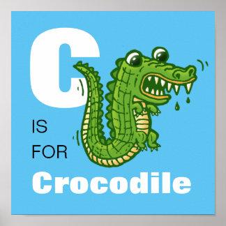 "Kid's ""C is for Crocodile"" Alphabet Poster"