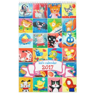 kid's calendar 2017