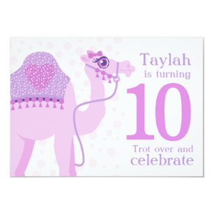 10th birthday invitations zazzle kids camel riding 10th birthday birthday invite filmwisefo