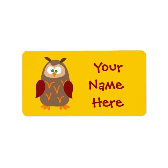 Kids Camp Owl Label