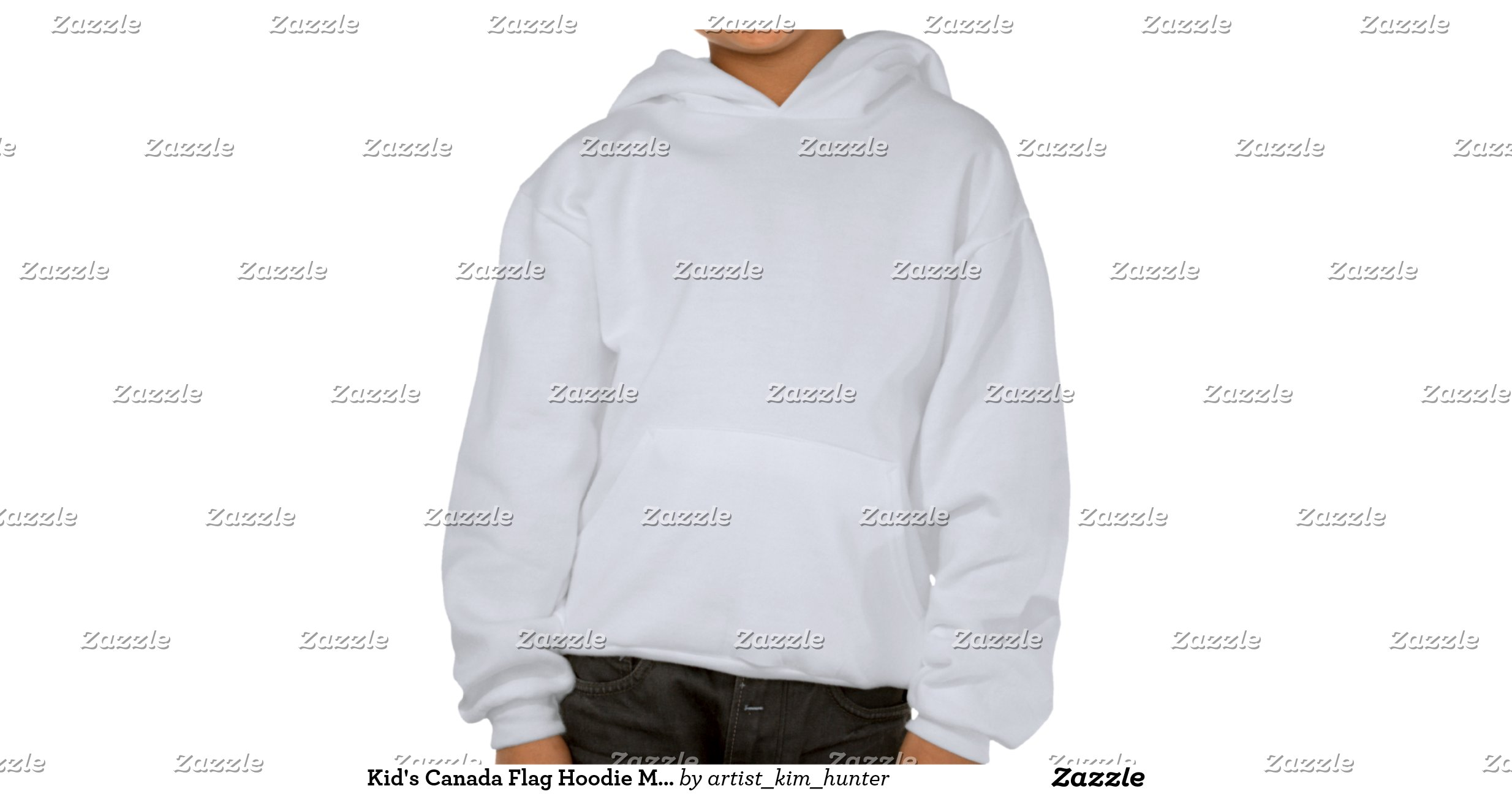 Kid 39 s canada flag hoodie maple leaf kid 39 s hoodie zazzle for Banded bottom shirts canada
