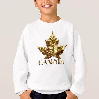 Kid's Canada Sweatshirt Gold Souvenir Canada Shirt