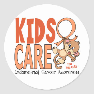 Kids Care 1 Endometrial Cancer Stickers