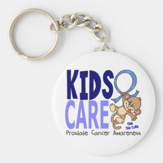 Kids Care 1 Prostate Cancer Basic Round Button Key Ring