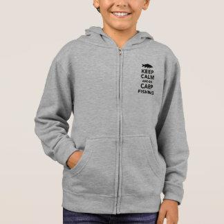 Kids carp fishing hoodie