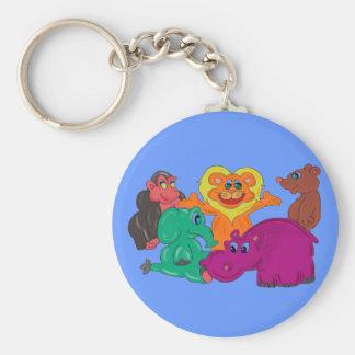 Kids Cartoon Jungle Animal keychain
