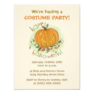 Kids Cartoon Pumpkin Halloween Party Invitations