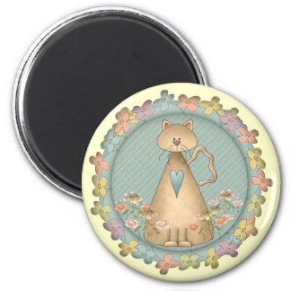 Kid's Cat T Shirts and Gifts 6 Cm Round Magnet