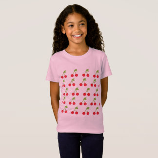 Kids cherry fruit T-Shirt / Pink