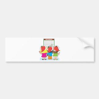 Kids Christmas Calendar Bumper Stickers