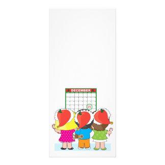 Kids Christmas Calendar Custom Rack Cards