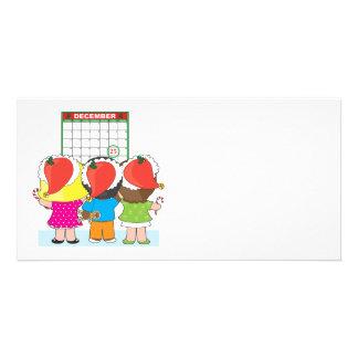 Kids Christmas Calendar Customized Photo Card