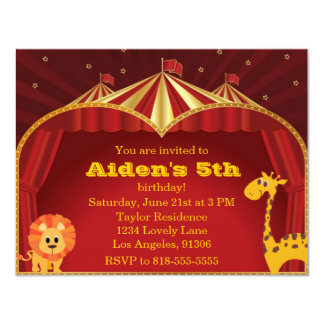 Kid's Circus Birthday Invitation
