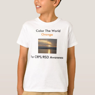 Kid's Color The World Orange T-shirt