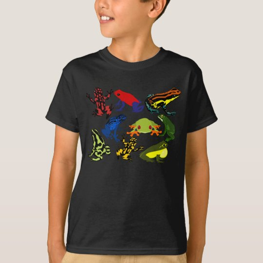 Kids Colourful, Fun Poison Dart frogs, Tree frogs! T-Shirt