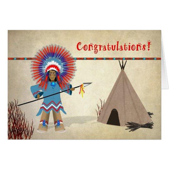 Kids' Congratulations Native Indian Fun Card