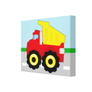 Kids Construction Dumptruck Canvas Print