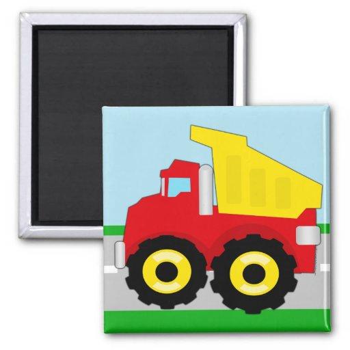 Kids Construction Dumptruck Refrigerator Magnets