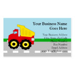 Kids Construction Dumptruck Pack Of Standard Business Cards