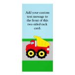 Kids Construction Dumptruck Personalized Rack Card