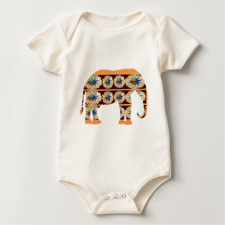 KIDs Corner - Painted Elephant Baby Creeper