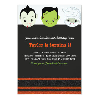 Kids costume Halloween Birthday Invitation VI