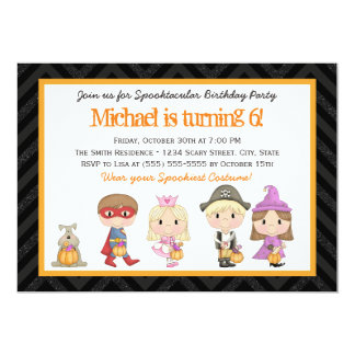 Kids costume Halloween Birthday Party Invitation