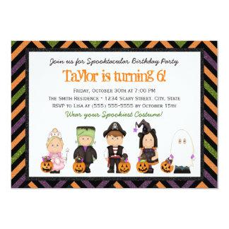 Kids Halloween Party Invitations Announcements Zazzlecouk - Halloween birthday invitations uk