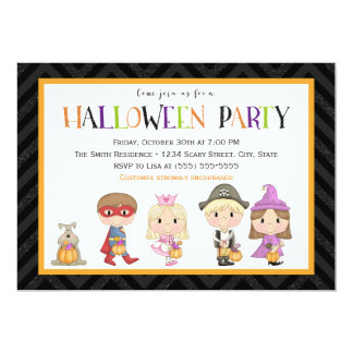 Kids costume Halloween Party Invitation II
