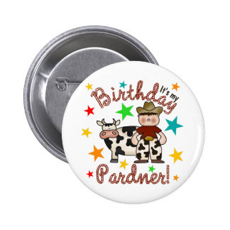 Kids Cowboy Birthday 6 Cm Round Badge