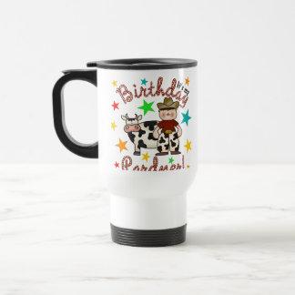 Kids Cowboy Birthday 15 Oz Stainless Steel Travel Mug