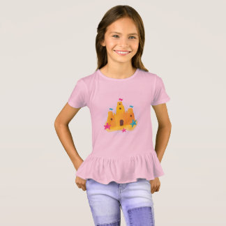 Kids creative t-shirt with Sand castle