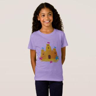 KIDS Creative tshirt with Sand castle / Lavender