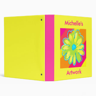 Kids custom artwork art binder