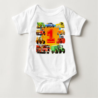 Kids Custom Construction Truck 1st Birthday Tees