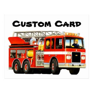 Kid's Custom Fire Truck Postcard