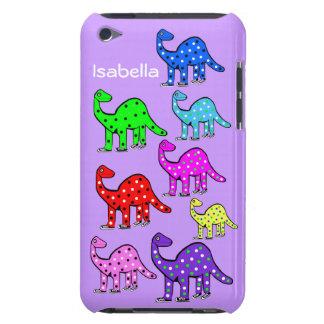Kids Custom Pink & Purple Dinosaur iPod Touch Case