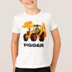 Kid's Custom Yellow Digger T-Shirt