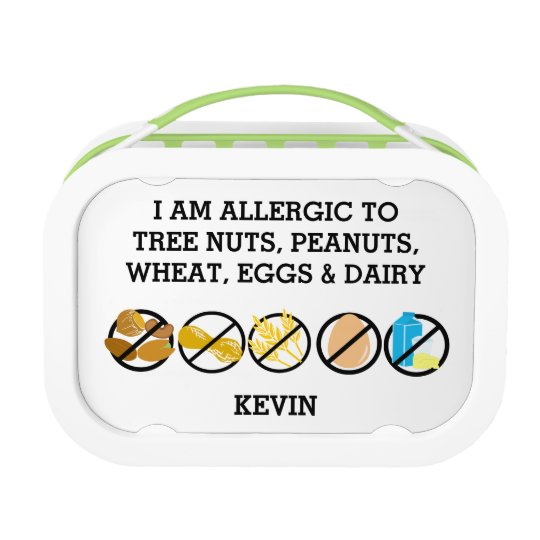 Kids Customisable Multiple Food Allergy Alert Lunchboxes
