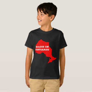 Kids Customizable Made in Ontario Map T-Shirt
