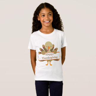 Kids Customizable Thanksgiving turkey t-shirt